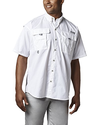 Columbia Men's Bahama II Short Sleeve Shirt, White, Large by Columbia