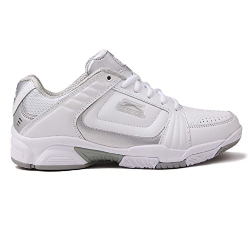 Silver White Slazenger Womens Shoes 4 UK Tennis qwwtgxZI