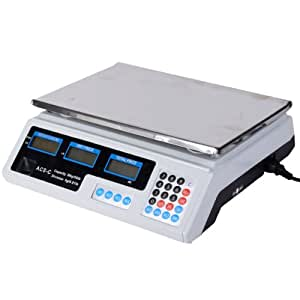 Digital Weight Scale Price Computing Retail Food Meat Scales Count Scale 66Lbs