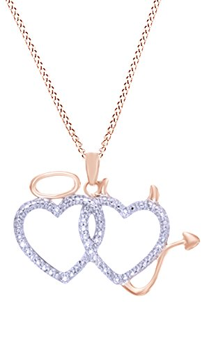heart and devil necklace - 2