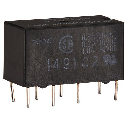 Part R40 - NTE Electronics R40-11D2-5/6 Series R40 Sensitive Coil Single Contact PC Board Mount Epoxy Sealed Relay, DPDT, 2 Amp, 5/6VDC