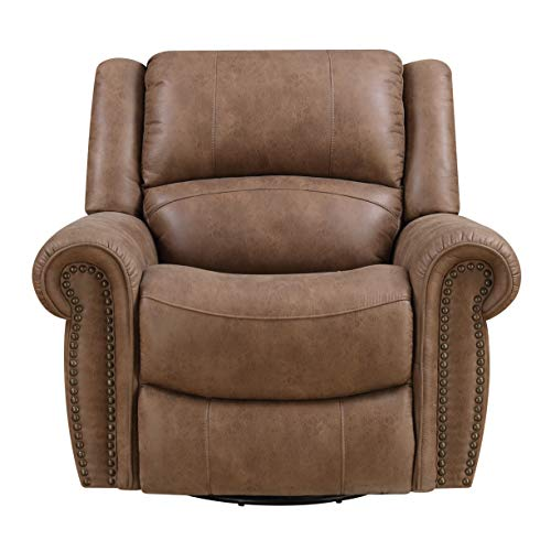 Emerald Home Furnishings Spencer recliner, Standard, brown (Recliner Nailhead)