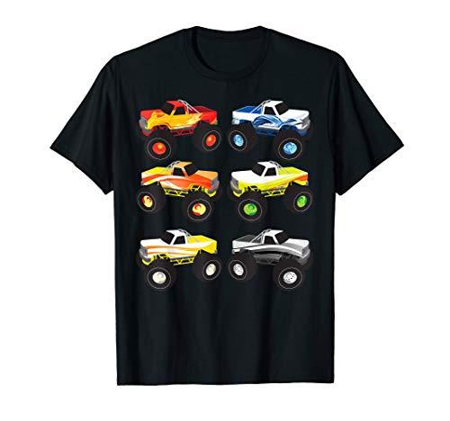 Little Boys Monster Trucks | Pickup Truck Funny School Gift T-Shirt ()