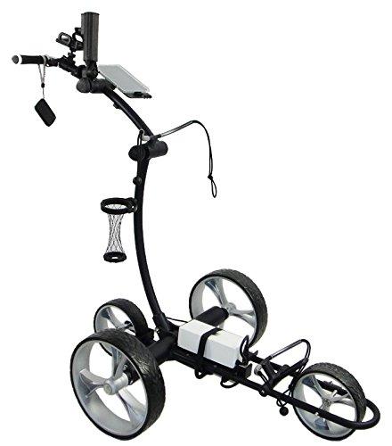 CartTek GRI-1500Li BLACK Electric Remote Control Ion Battery Golf Bag Cart Cart Tek Golf Carts