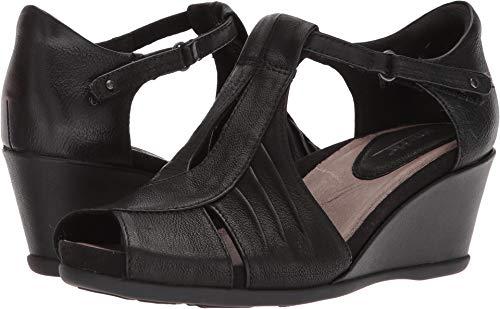 Earth Womens Primrose Black Tumbled Leather Sandal - 11