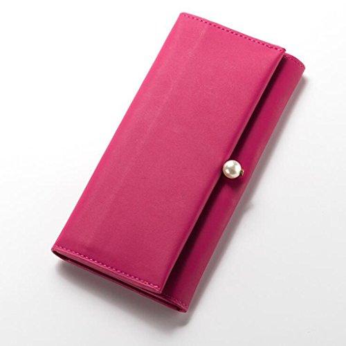 Souple 6cm Purse Red Sac Fold Multi Pearl pour en Long Nouveau 9 PU Femmes soirée 18 Cuir Taille d'embrayage Femmes 2 20 Portefeuille Cuir 8 de Fonction O44fpxqnIF