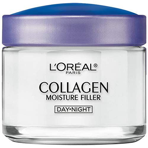Collagen Face Moisturizer by L'Oreal Paris, Anti-Aging Day Cream & Night Cream to Smooth Wrinkles, Lightweight, Non-greasy Facial Cream, 3.4 oz.