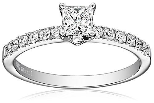 Kobelli 3/4 cttw Princess and Round Diamond 14k Gold Engagement Ring, Size 7 from Kobelli