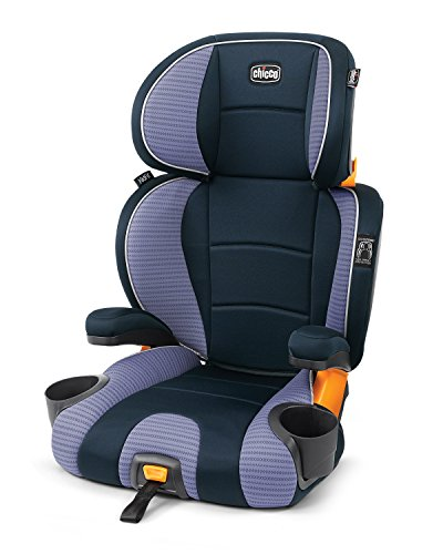 Chicco KidFit 2-in-1 Belt-Positioning Booster Car Seat, Celeste (Evenflo Amp High Back Booster Car Seat Carrissa)