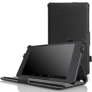 MoKo Google Nexus 7 2013 FHD 2nd Gen Case - Slim-Fit Multi-angle Stand Cover Case with Auto Wake / Sleep for Google Nexus 2 7.0 Inch 2013 Generation Android 4.3 Tablet, BLACK