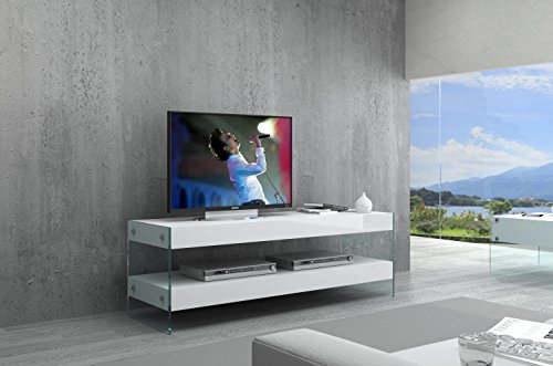 J and M Furniture 179601-MTVv CE Cloud Mini Lacquer Finish TV Base