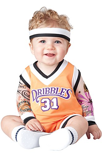 InCharacter Baby's Double Dribble Basketball Player Costume, Orange/Black, Small - Basketball Halloween Costumes