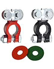 BESPORTBLE 3 Pairs Car Battery Terminal Connectors Car Battery Terminal Top Post Car Cable Connector Clamp Top Terminal and Post Washer Set for Car Trucks