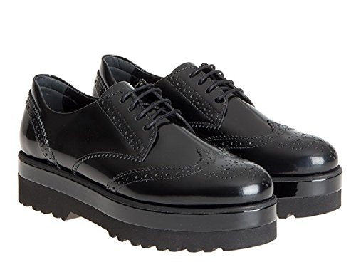 Hogan cuero negro cuña zapatos derby wingtips - Número de modelo: HXW3080W0301QAB999 negro
