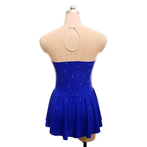 Hecho Sobre Traje Vestido Mujer Blue Competencia Alta A Mano Profesional Ropa Patinaje Rendimiento De Chica Artístico Sexy end Elasticidad Atractivo Respirable High q88Xa