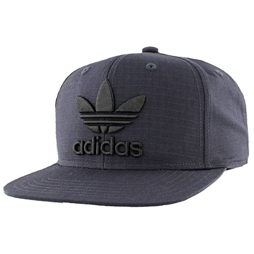 adidas Men's Originals Trefoil Chain Snapback Cap, Dark Grey Ripstop, One ()