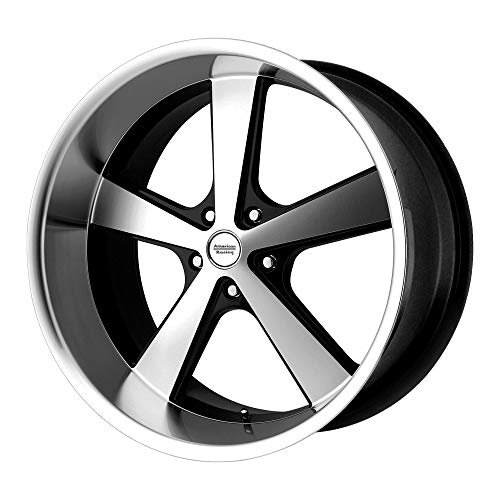 American Racing VN701 Nova Gloss Black Wheel with Machined Face and Spokes (22x9\