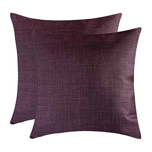 The White Petals Plum Throw Pillow Covers - Luxurious, Elegant & Decorative (18x18 inch, Pack of -