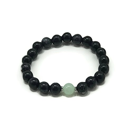 Yoga Bead Bracelet by WestMarketDesign | Stackable Bracelet, Sea Green, Black Beaded | Bohemian Style For Less | Earthy Jewelry For - For Less Styles Designer