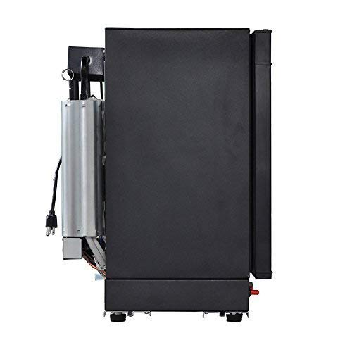 SMETA Electric/Gas RV Truck Refrigerator for camping, AC/DC/Propane,1.4 Cu ft,Black(propane free)