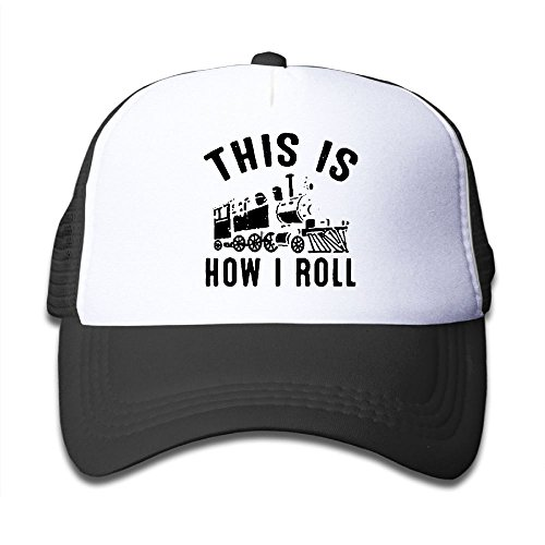 (BOYGIRL-CAP This is How I Roll Train Kids Toddler Boys Girls Adjustable Mesh Cap Trucker Hat Trucker Hat)