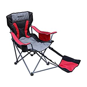 Amazon Com Gigatent Camping Chair With Foot Rest Built