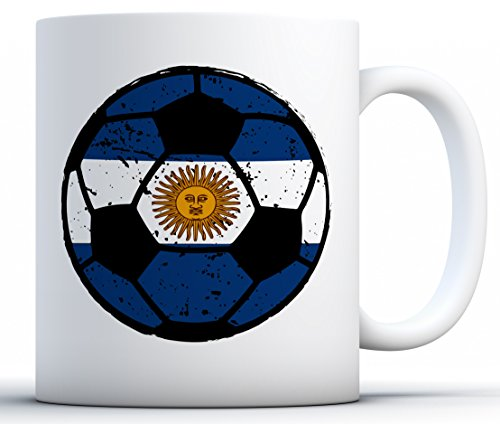 Fan Mug 11 Oz White - Awkward Styles Argentina Soccer Mugs Argentina Coffee Mugs Tea Cups Soccer Fans White 11 oz