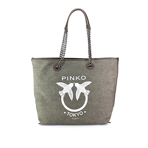 Women's Spring Accessories Summer Green Pinko Tote Bag Belato Canvas 2018 T4TqrwW0H