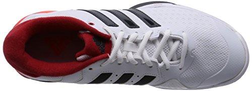 adidas Barricade Team 4 OC - Zapatillas para hombre Blanco / Gris / Rojo