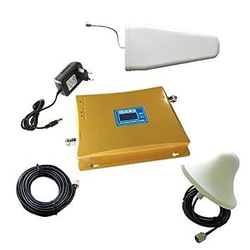 EMEBAY – Amplificador de señal banda dual GSM 900 MHz + 3 G WCDMA 2100 MHz: Amazon.es: Electrónica
