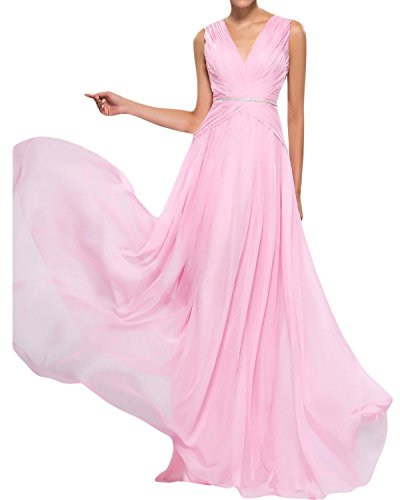 Sunvary V Neck Formal Evening Prom Dress for Mother of the Bride Chiffon