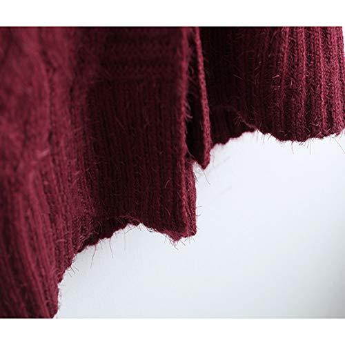 Spessore Spessore Spessore di Maglione Twist Peluche Felpa Donna Autunno E E E winered Grandi Cappotto Inverno Loose Dimensioni Tessere Lungo qPwfnvSA