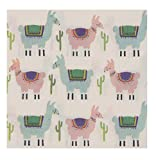 Cocktail Napkins - 150-Pack Luncheon Napkins, Disposable Paper Napkins Kids Party Supplies, 2-Ply, Llama Design, Unfolded 13 x 13 Inches, Folded 6.5 x 6.5 Inches