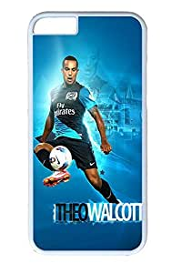 iPhone 6 Case, Arsenal Theo Walcott Cute Ultra Slim Pattern Bumper for iPhone 6 Cover (4.7) iPhone 6 cases for Girls iphone 6 case hard PC White Skin
