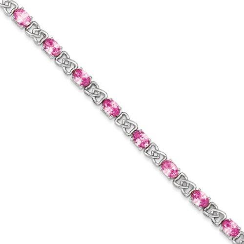 Icecarats Créatrice De Bijoux En Argent Sterling 7Inch Cz Rose Bracelet En 7 Pouces