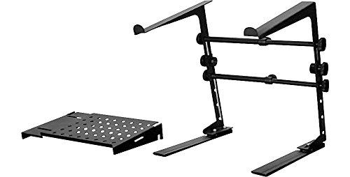 DR Pro DJ Laptop Stand and Shelf Bundle Black ()
