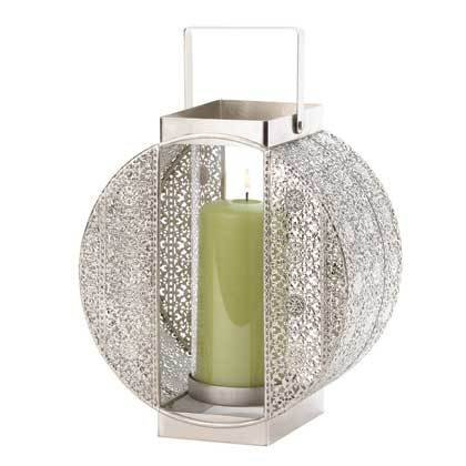 Dynasty Pillar Candle Lantern Wedding Centerpiece