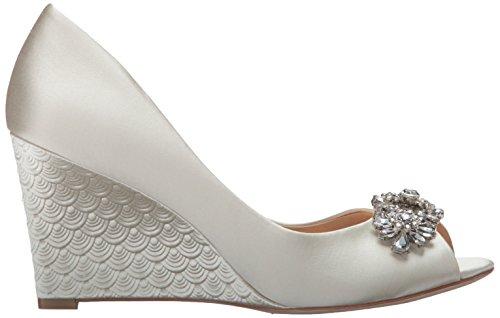 Mischka Womens Wedge Sandal Ivory Badgley DARA 8U65xvq