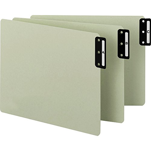 Smead 61676 End Tab Guide,Vertical A-Z/ST, Letter,Gray/Green - Green End Tab Guides