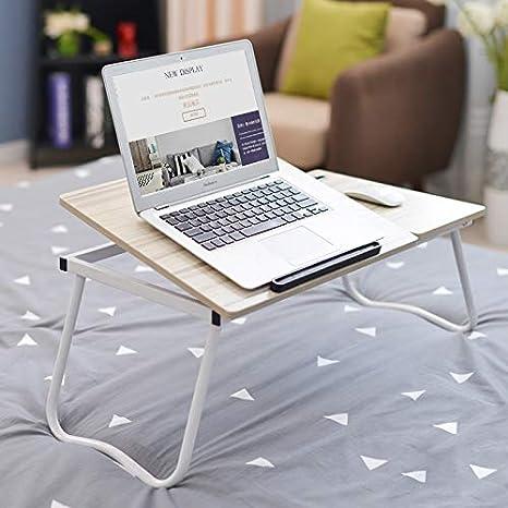 RLUJIULS Plegable Mesa Ordenador Portátil, Mesa para Cama o Sofa ...