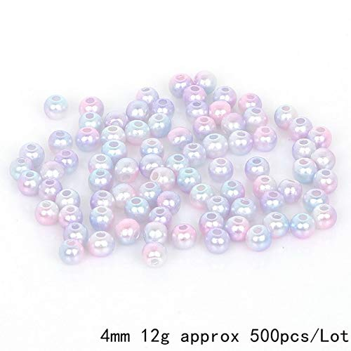 4-10mm 50-500pcs/lot ABS Imitation Pearl Beads Round Spacer Beads for Bracelet Beads for Jewelry Making DIY Accessories - (as The Picture Shows)