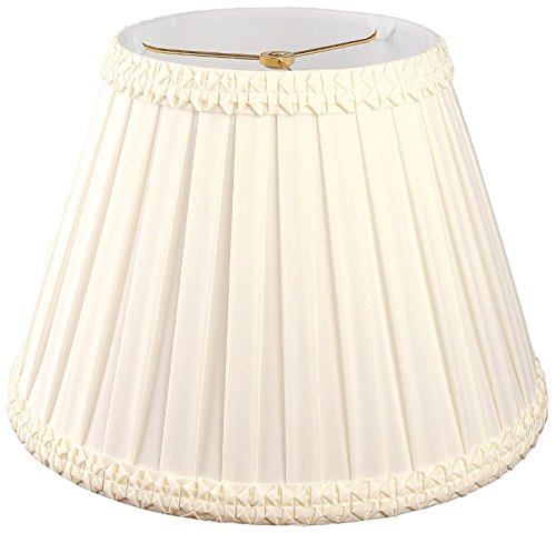 Royal Designs Pleated Square with Top Gallery Designer Lamp Shade, Eggshell, 7 x 12 x 9.5