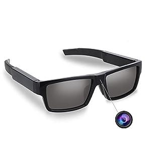 PANNOVO Spy Camera Polarized Sunglasses HD 1080P Hidden Camera with 16 GB SD Card