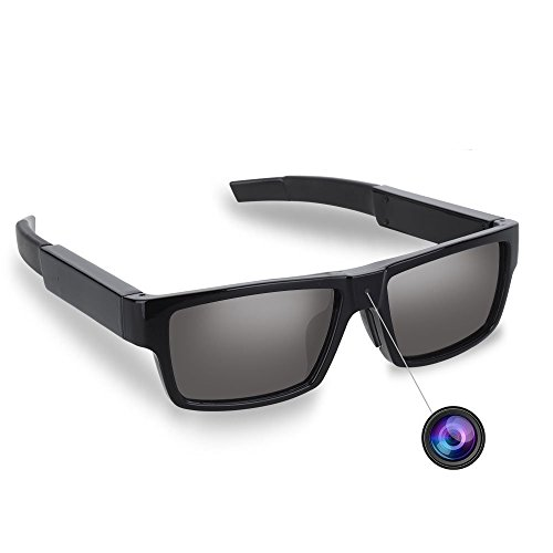 PANNOVO Spy Camera Polarized Sunglasses HD 1080P Hidden Camera with 16 GB SD - Camera Sunglasses Hd