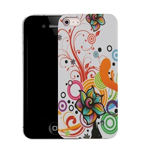 Mobile Case Mate IPhone 4 clip on Silicone Coque couverture case cover Pare-chocs + STYLET - whisper whirl pattern (SILICON)