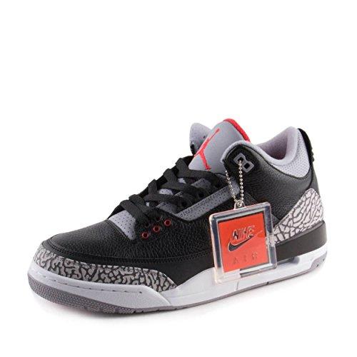 Jordan Men's Air 3 Retro OG, Black Cement, 8.5 US