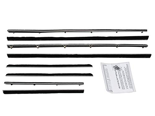 New 1963-65 Ford Falcon, Mercury Comet Convertible Door, Quarter Window Beltline Weatherstrip Felt Seals (F116)