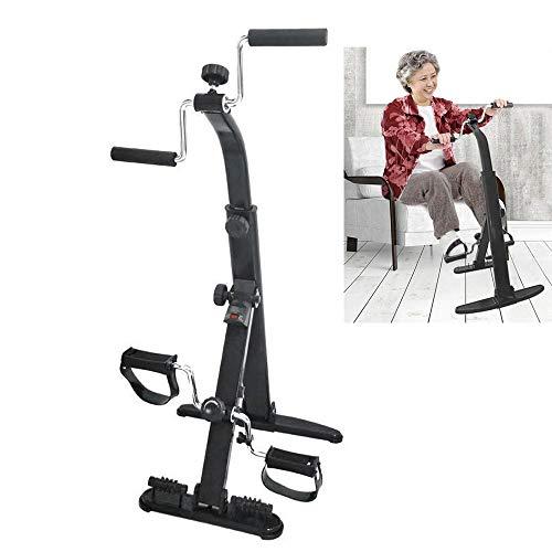 JFGUOYA Exercise Bike Arm and Leg Exerciser - Arm & Leg Exercise Peddler Machine - Portable Pedal Exerciser - Fitness Equipment for Seniors and Elderly - Pedal Exercise Bike