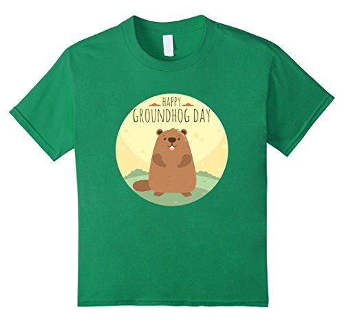 Kids Happy Groundhog Day T-Shirt