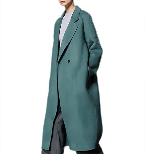 M donna L Suit vento Nero lana Verde Casual Capispalla in Slim Rosso Fit S bifacciale in Cappotto inverno Giacca lunghi Giacca autunno XL Ispessimento a Green Outwear Abiti cashmere Z7EqBB